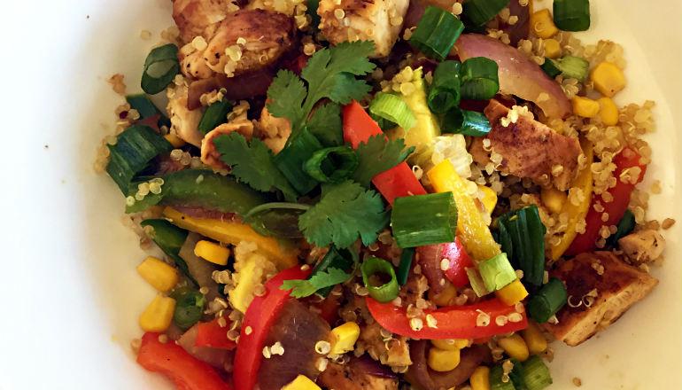 Quick and Healthy Quinoa Chicken Salad