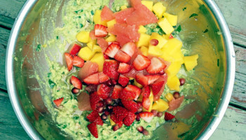 Mango, Grapefruit, and Strawberry Guacamole