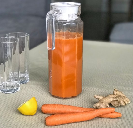 Carrot Ginger Juice (No Juicer Required)